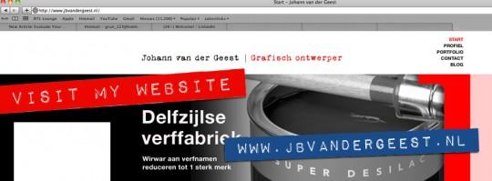 Facebook omslag ontwerp Johann van der Geest websites