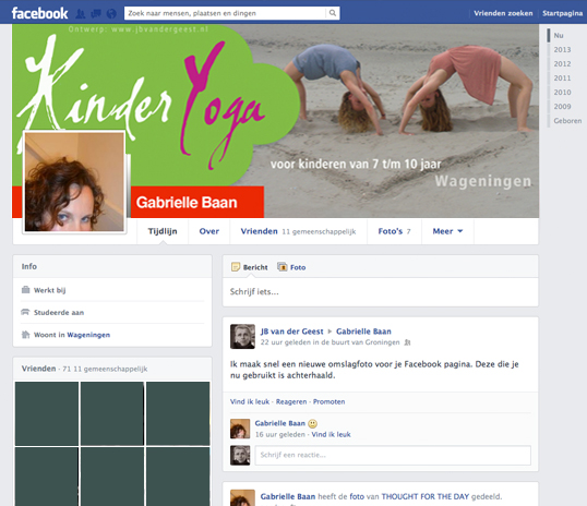 Gabrielle Baan Kinderyoga Facebook