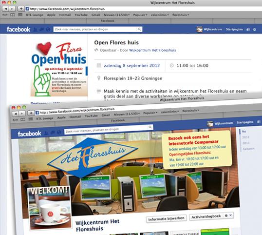 Floreshuis Facebook omslag ontwerp