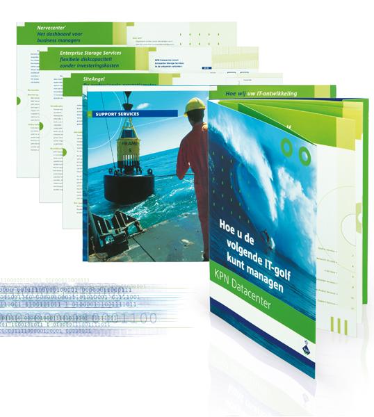 KPN Datacenter brochure en leaflets