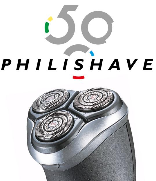 Philips Philishave jubileumlogo 50 jaar