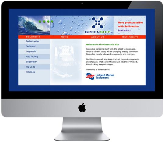 Greenship website homepage