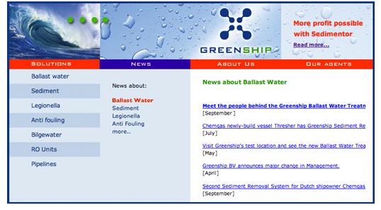 Greenship website news page
