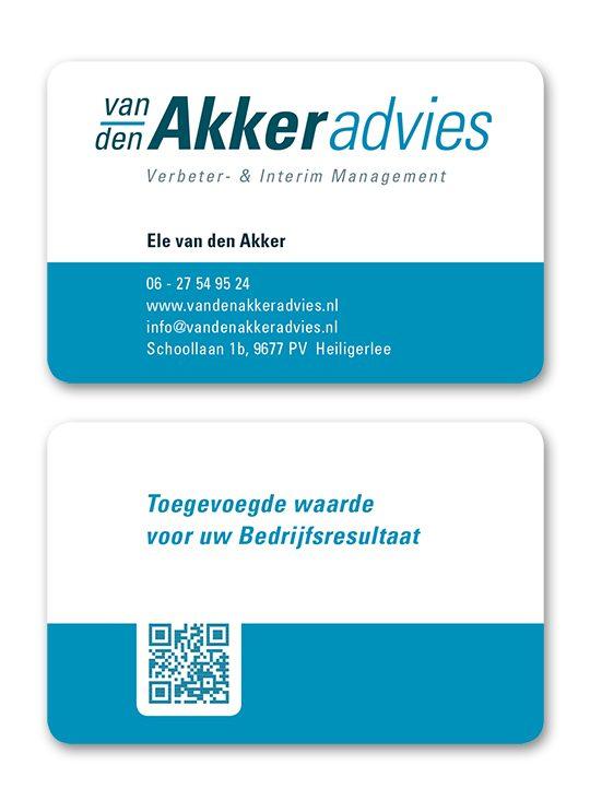 van den Akker Adviesvisitekaart